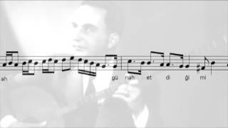 Ruhsârına Aybetme Nigâh Ettiğimi - Münip Utandı (with notes)