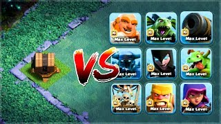 Giant Cannon vs All Troops 🔥🔥🔥 | Clash of Clans | Builder Base