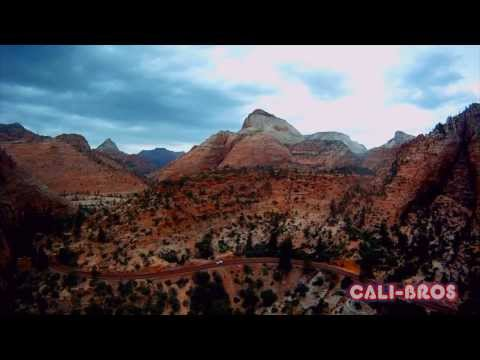 Quadcopter FPV flying through ZION national park in Utah amazing views