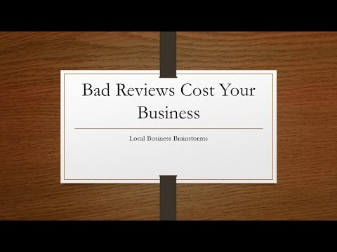 Do Bad Reviews Cost Your Business Money?