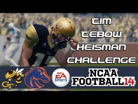 NCAA Football 14 Heisman Challenge Mode: Tim Tebow EP14 - 4OT Thriller! (BCS NC vs. Boise State)