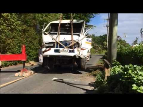 Truck Removed After Crash In Devonshire, December 17 2016