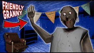 Friendly Granny HELPS US DANCE ON HER STUFF!!! | Granny The Mobile Horror Game (Messing Around)