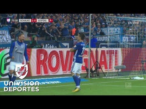 Cachetazo de parte interna: Konoplyanka hizo el 2-0 de Schalke al Leipzig