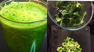 How to make fresh Celery and spinach juice/healthy recipe/