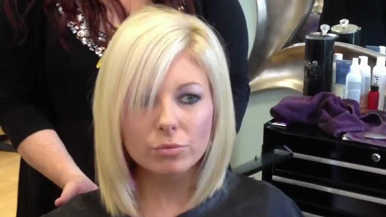 Blonde Layered Bob Haircut