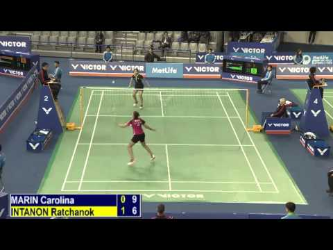 R16 - WS - Ratchanok Intanon vs Carolina Marin - 2014 Korea Badminton Open