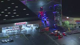 RAW VIDEO: Police swarm Corona Costco after report of shooting | ABC7