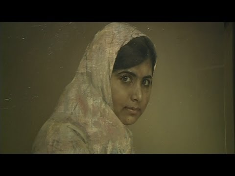 Portrait of Malala Yousafzai goes on display in London's National Portrait Gallery
