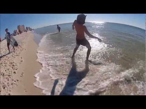 2012 Bama Jam skimboarding contest with Blonde Johns Surfshop in Gulf Shores Alabama