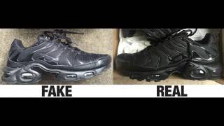 How To Spot Fake Nike Tuned 1 / TN / Air Max Plus Trainers Authentic vs Replica Comparison