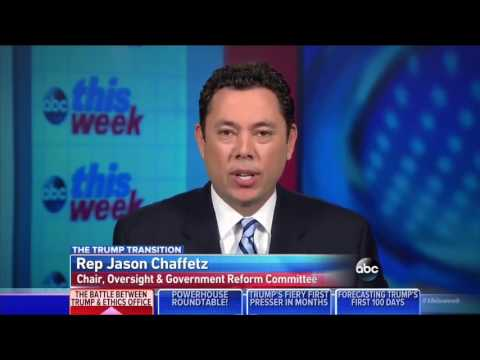 ABC This Week discusses ethics and President-elect Trump with Rep. Chaffetz, 1/15/17