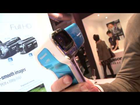 Panasonic HX-DC10, HX-WA10, HM-TA20 & HM-TA2 camcorders at the Gadget Show 2011- which first look re