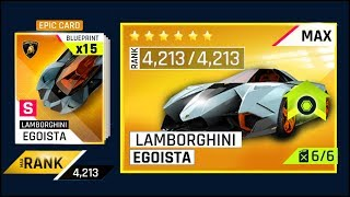 ASPHALT 9 - MAXING LAMBORGHINI EGOISTA (4213 MAX RAITING) WOULD COST HOW MUCH?? & PACK OPENING