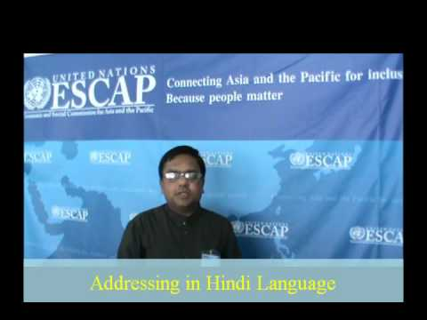 N N Murthy speaks at United Nations in Hindi, Bangkok 2011