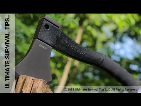 NEW! Schrade Survival Hatchet vs. Bear Grylls Hatchet - REVIEW - Best Survival Hatchet? SCAXE2