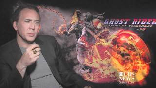Nicolas Cage talks Ghost Rider 2, Dracula's castle