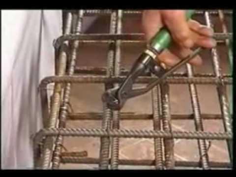 Innowacyjne urz�dzenie do wi�zania drutu w pracach zbrojeniowych.