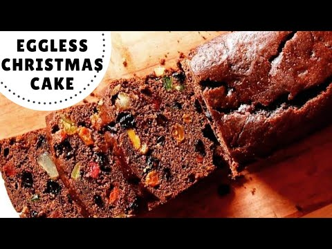 Eggless Christmas Cake Recipe | No Rum. No Eggs. (Hindi)