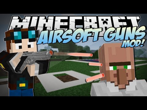 Minecraft | AIRSOFT GUNS MOD! (Awesome New Guns & Weapons!) | Mod Showcase