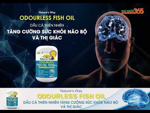 Nature's Way Odourless Fish Oil - Dầu cá thiên nhiên không mùi cho cả gia đình