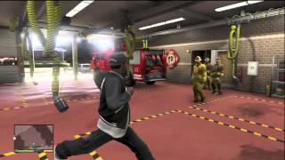 GTA 5 INSIDE THE FIRE FIGHTER STATION / WHERE TO GET A FIRE TRUCK