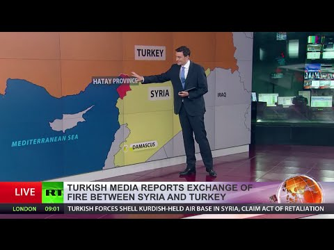 Turkish troops shell airport and village held by Kurds inside Syria