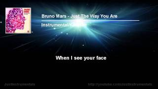 Bruno Mars Just The Way You Are Instrumental Karaoke