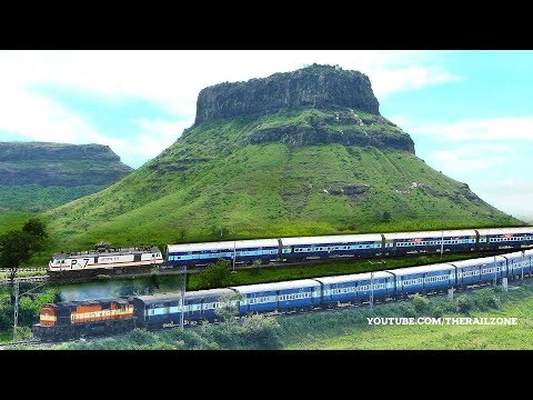 The most beautiful Mountains & Trains | MANMAD | Indian Railways thumbnail
