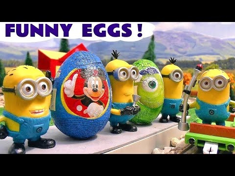 Funny Minions Thomas and Friends Play Doh Kinder Surprise Eggs Frozen Disney Mickey Mouse Play-Doh