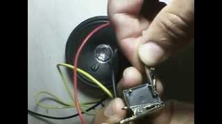 Buzina simples com  relé_Simple buzzer with a relay