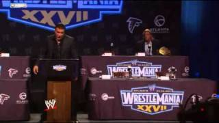 WWE WrestleMania XXVII Press Conference  Alberto Del Rio
