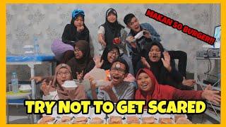 Rusuh parah! TRY NOT TO GET SCARED! + Makan 50 Burger! *Auto Muntah