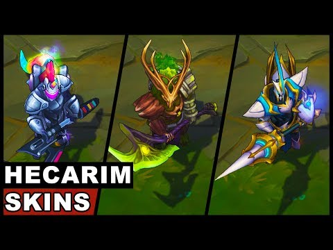 All Hecarim Skins Lancer Zero Arcade Elderwood Headless Reaper Worldbreaker Blood Knight (LoL)