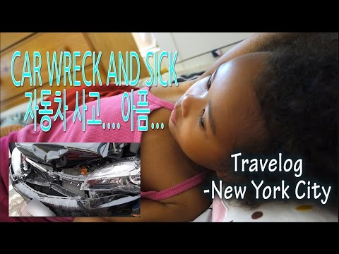 CAR WRECK AND SICK 사고와 아픔 -USA ROAD TRIP DAY 4, 5 -NEW YORK 뉴욕 Vlog ep. 66