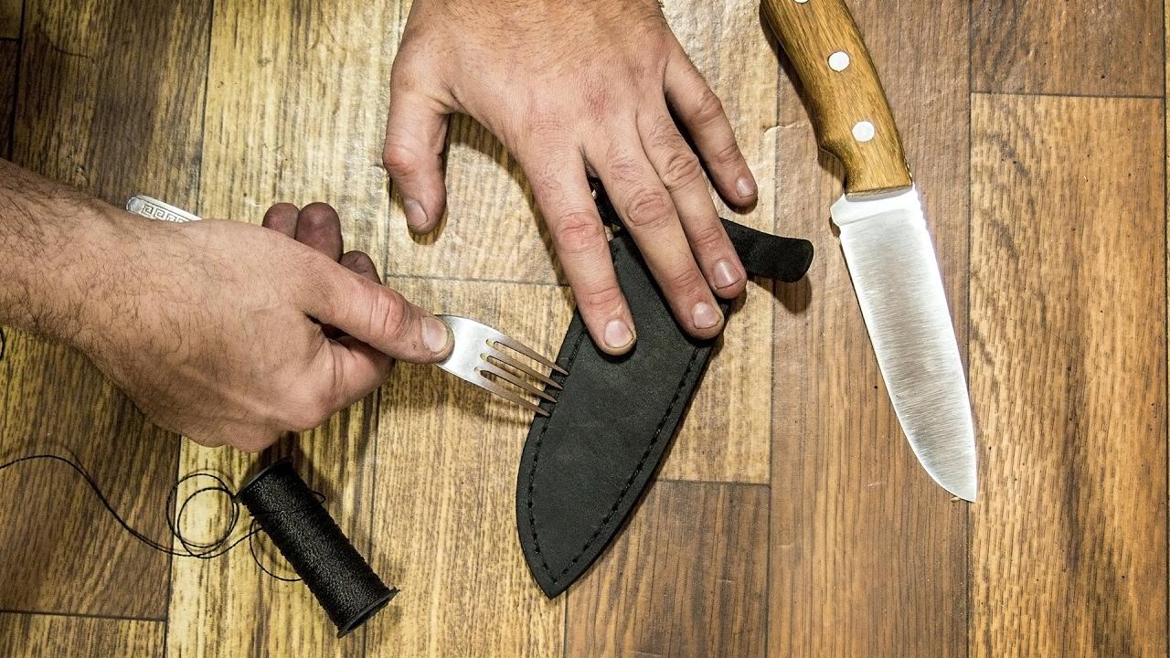 Как самому сделать ножны из кожи своими руками 13