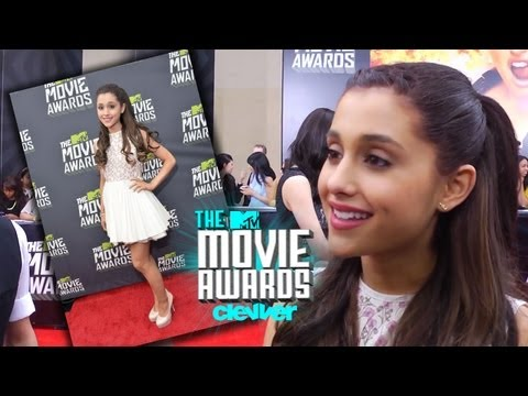 Ariana Grande Talks Mac Miller Kiss & More - 2013 MTV Movie Awards Interview