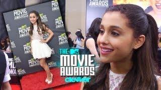 Ariana Grande Talks Mac Miller Kiss & More - 2013 MTV Movie Awards Interview