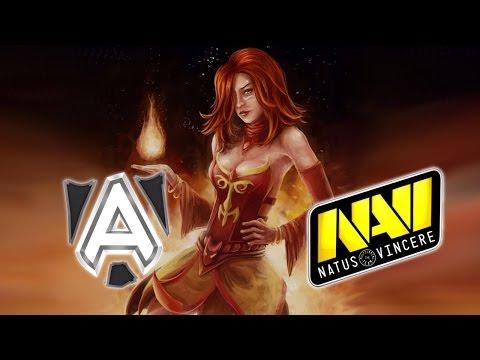 NAVI vs Alliance-лучшая игра за всю историю доты.