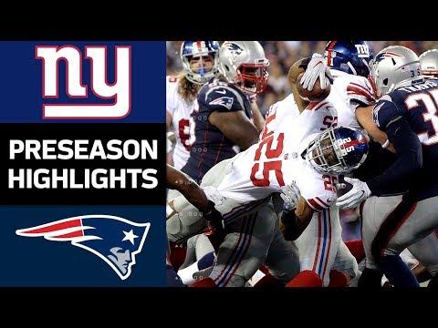 Giants vs. Patriots | NFL Preseason Week 4 Game Highlights