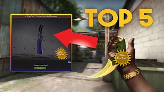 TOP 5 UNBOXINGS OF THE MONTH! INSANE KNIVES!   CS:GO