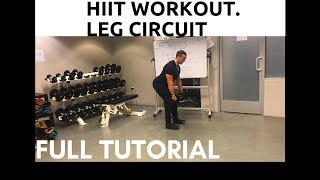 HIIT Workout. Leg circuit. Intermediate phase, EPISODE 4 [ Full tutorial ]