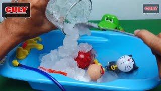 Đồ chơi thử nghiệm bột tuyết nhân tạo doraemon spiderman người nhện Anpanman Instant Snow Toys Kids