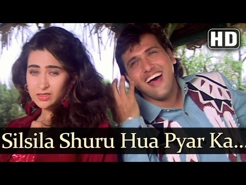Silsila Shuru Hua Pyar Ka (HD) - Dulaara Songs - Govinda - Karisma...