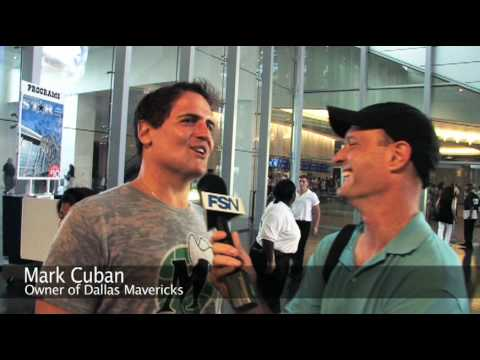Dallas Mavericks owner Mark Cuban visits Cowboys Stadium