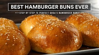 Most AMAZING HAMBURGER BUNS recipe ever | GugaFoods