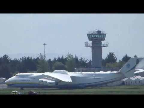 {HD} Antonov-225 Taxiing At Shannon Airport (Worlds Biggest Aircraft)