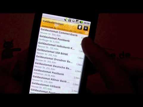 Android App Test: meinestadt.de
