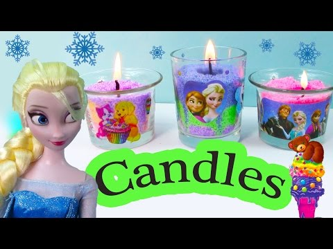 Candle Craze Maker Playset Disney Frozen Sisters Queen Elsa Princess Anna Holiday Lisa Frank Gift video