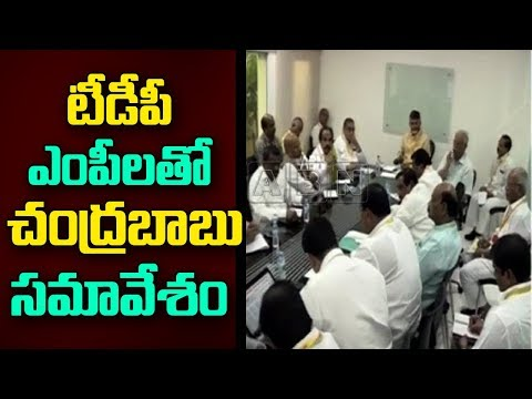 CM Chandrababu Naidu Holds Meeting With TDP MPs and Ministers | Discuss on Kadapa Steel factory